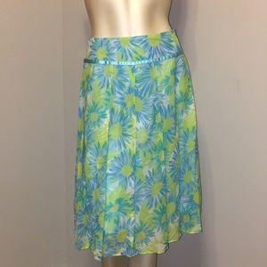 Bob Mackie Studio silk floral skirt.